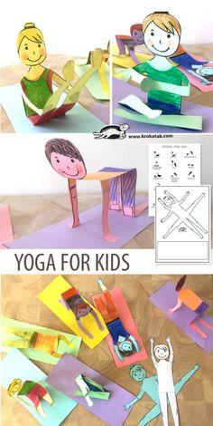 YOGA FOR KIDS: children activities, more than 2000 coloring pages Yoga For Kids, Diy For Kids, Crafts For Kids, Classroom Crafts, Preschool Crafts, Paper Toys, Paper Crafts, Owl Paper, Projects For Kids
