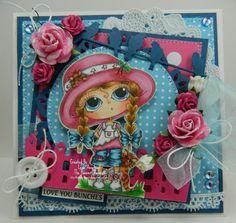 Love You Bunches Handmade OOAK Card by thehoosierstamper, $14.95 USD