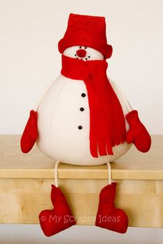DIY Winter Snowman - sewing tutorial and pattern - PDF instant download