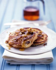 Banana-Buttermilk Pancakes: Rather than stirring the banana slices into the batter, we added them to the pancakes in the pan; this way they are evenly distributed and hold their shape.