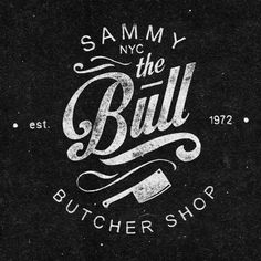 Logo Design - The Bull Butcher Shop - this is a very nice chalkboard look that fits the business.