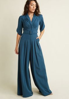 Plus size jumpsuit. Miss Candyfloss The Embolden Age Jumpsuit in Teal 1940s Fashion, Vintage Fashion, Emo Fashion, Fashion Pants, Fall Outfits, Cute Outfits, Woman Outfits, Burgundy Jumpsuit, Plus Size Jumpsuit