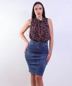 Φούστα Ελαστική Τζιν   Vaya Fashion Boutique