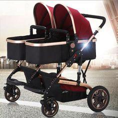 stock clear twin baby cart width 4 mode high landscape pram carrier poussette stroller no bugaboo donkey Double Stroller For Twins, Double Baby Strollers, Twin Strollers, Best Baby Strollers, Best Double Stroller, Baby Jogger, Bugaboo Donkey, Twin Pram, Best Lightweight Stroller