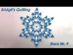 Bridgit's Quilling Stern Nr. 10 (Tutorial) - YouTube