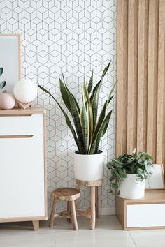 Removable White Brick Wallpaper Mural, Self Adhesive White Stone Wall Paper, Peel and Stick Temporary Wallpaper Roll, Remove Wallpaper Cheap Home Decor, Diy Home Decor, Design Living Room, Living Spaces, Design Bedroom, Scandinavian Interior Design, Scandinavian Design, Interior Modern, Snake Plant