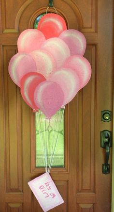 It's a Girl balloon burlap  door hanger and by AllUniqueThings, $35.00