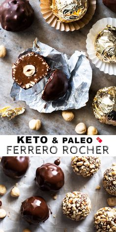 Prepare to be amazed, because these homemade keto Ferrero Rocher hit all the right notes! Including the ultimate creamy (and sugar free! Low Carb Candy, Keto Candy, Low Carb Sweets, Low Carb Desserts, Ketogenic Desserts, Keto Snacks, Ketogenic Diet, Paleo Dessert, Dessert Recipes