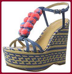 SCHUTZ Damen S2-00060027 Riemchensandalen, Mehrfarbig (Snorkel Blue), 40 EU - Sandalen für frauen (*Partner-Link)