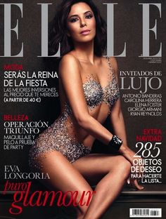 #EvaLongoria Wears Nothing But Crystals On The Cover Of #ELLE Spain December 2013 issue