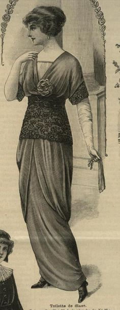 Edwardian fashion plate