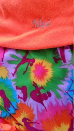 #Cheer #gymnastics #girls #cheerleader  #gymnasthttps://kiyswonders.storenvy. Embroidered Blankets GymnasticsCheerGirls