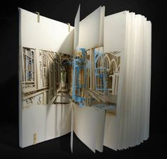 Book of Space, a spatial representation of the Winter Palace, inspired by Alexander Sokurov's film 'Russian Ark', laser-cut into a sketchbook by Johan Hybschmann Paper Book, Paper Art, Cut Paper, Paper Crafts, Bartlett School Of Architecture, Lazer Cut, Book Sculpture, Paper Sculptures, Design Graphique