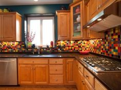 colorful kitchen backsplash - Google Search