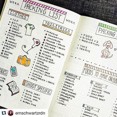 """How seriously adorable is this #packinglist from @emschwartzrdn? I so many…"