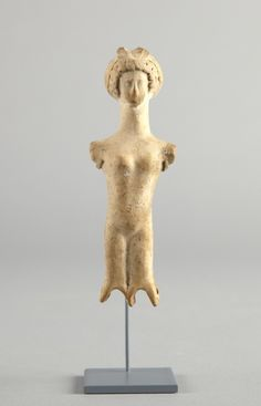Greek Jointed Doll, 4th century B.C. Terracotta preserved: h. 10.2 cm., w. 3.3 cm., d. 2.6 cm. (4 x 1 5/16 x 1 in.) Bequest of J. Penrose Harland, Class of 1913 y1973-28 The information shown has not been approved by a curator.