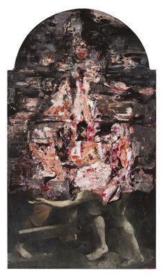 Nicolai Samori San Pietro all'Inferno 2016, oil on linen, 300 x 170 cm. Photo Rolando Paolo Guerzoni