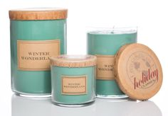 eco candles 100% pure organic soy wax hand-poured in Wisconsin in a large variety of beautiful scents.