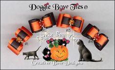 Image: Halloween Reverse Pairs dog bows