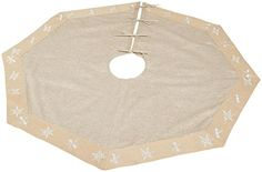 Arty Imports Snowflake Embroidered Tree Skirt *** You can get more details by clicking on the image.
