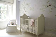 lavender painted crib | Design Reveal: Classic Lavender Chinoiserie