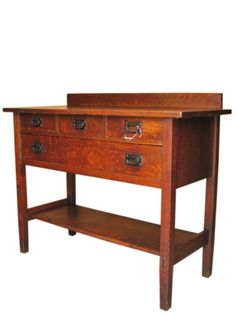 Gustav Stickley Small Sideboard Mission