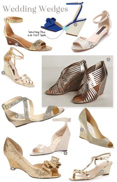 Top 10 Wedding Wedges!  #Weddingshoes, wedding wedges galore! Picks from Kate Spade, Steve madden, Badgley Mischka, Jimmy Choo & more.