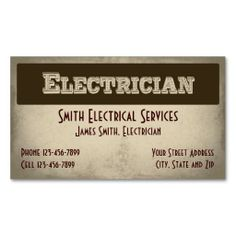 31 best business cards for electricians electrical services images electrician business card reheart Choice Image