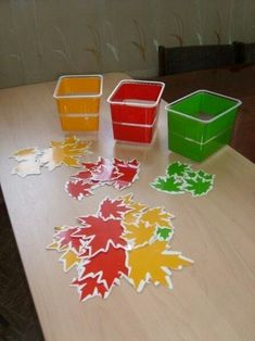 Toddler Learning Activities, Preschool Learning Activities, Color Activities, Preschool Crafts, Crafts For Kids, Leaf Crafts, Fall Crafts, Tree Study, Montessori Materials