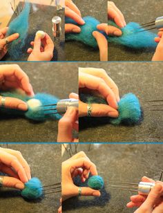 How to Needle-Felt Colorful Balls