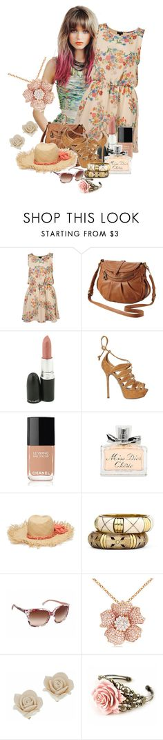 """""""Nature outfit"""" by im-a-daydreamer ❤ liked on Polyvore featuring Kershaw, MAC Cosmetics, Sergio Rossi, Chanel, Christian Dior, Lanvin, MNG by Mango and Dolce&Gabbana"""