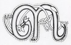 Calligraphy illumination on pinterest book of kells for Book of kells coloring pages