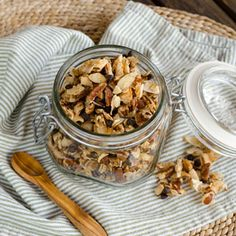 Pecan Chocolate Chip Coconut Granola is the perfect grab-and-go snack when you're looking for something a little bit sweet, that's also #glutenfree, #grainfree and #dairyfree.