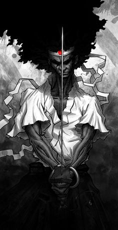 Afro samurai by Mariusz Szulc....loved this character!