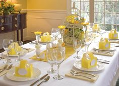 yellow tablescape #bySandraLee