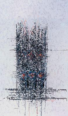 A Catedral [The Cathedral] [The Cathedral] 1964 | Antonio Bandeira óleo sobre tela 161.50 x 96.50 cm Coleção Gilberto Chateaubriand - MAM RJ