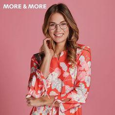 #Brillen und #Sonnenbrillen für selbstbewusste, aktive Frauen. Entdeckt jetzt die aktuelle Kollektion von MORE & MORE.  #optiker #ludwigshafen #ludwigshafenamrhein #brillenbutler #brille #sonnenbrille #moreandmore #moreandmoreeyewear Eyewear, Kimono Top, Tops, Fashion, Sunglasses, Woman, Women's, Eyeglasses, Glasses
