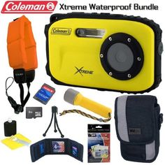 85 best electronics camera photo images on pinterest digital coleman c5wp y xtreme 12mp 33ft waterproof 8gb digital camera bundle by coleman fandeluxe Gallery