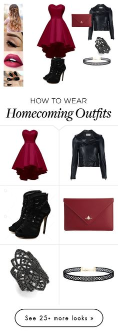 """""""Untitled #722"""" by madalena-volturi on Polyvore featuring Yves Saint Laurent, Vivienne Westwood, nOir and LULUS"""