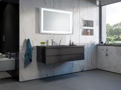 Lustro łazienkowe Ring 2 LED z oświetleniem LED/Mirror Ring 2 Led Mirror, Mirrors, Double Vanity, Bathroom Lighting, Furniture, 3d, Ring, Home Decor, Bathroom Light Fittings