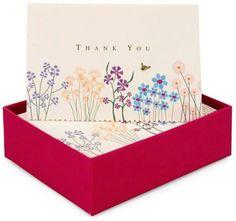 Sparkly Garden Thank You Box Notecard set of 14
