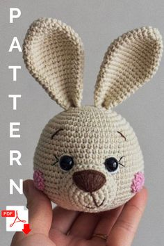Crochet PATTERN Easter bunny Amigurumi toy Amigurumi Pattern Crochet bunny Handmade toy This pattern is available in English. It consists of 21 pages of the detailed description in the pdf format and contains more than 40 quality photos. Easter Crochet Patterns, Crochet Amigurumi Free Patterns, Crochet Bunny, Crochet Dolls, Crochet Animals, Rabbit Crafts, Bunny Crafts, Crochet Wall Hangings, Crochet Basics