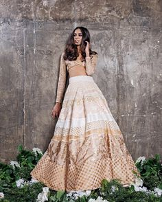 """U D A I P U R TEA P A R T Y SS16 EDITORIAL @natasharamkay Rose Gold Udaipur Bustier X Hierarchy Skirt Order: info@manijassal.com Ph:…"""