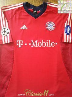 a5266774c 2002 03 Bayern Munich Champions League Football Shirt (XL)
