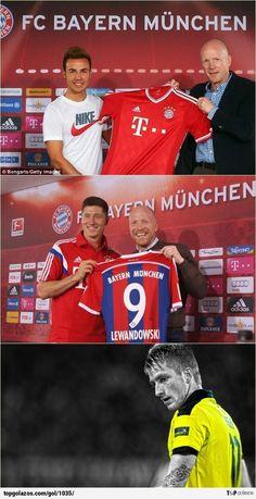 Gotze, Lewandowski y... Reus :(