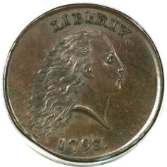Obverse of 1793 Chain Cent
