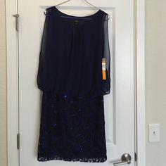 Ile Evening Navy Beaded Midi Dress Brand new. Ile Evening Dresses Prom