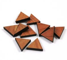 Triangle Charms Mixed Laser Cut Wood Earring Supplies Little Lab Sustainable Products