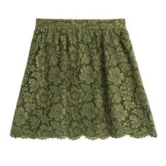 Valentino Lace Skirt ($550) ❤ liked on Polyvore featuring skirts, cocktail & party, green, women, flared skirt, lacy skirt, green skirt, knee length a line skirt and cocktail skirt