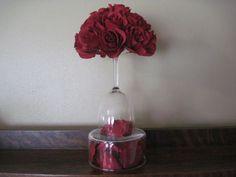 wine glass centerpiece
